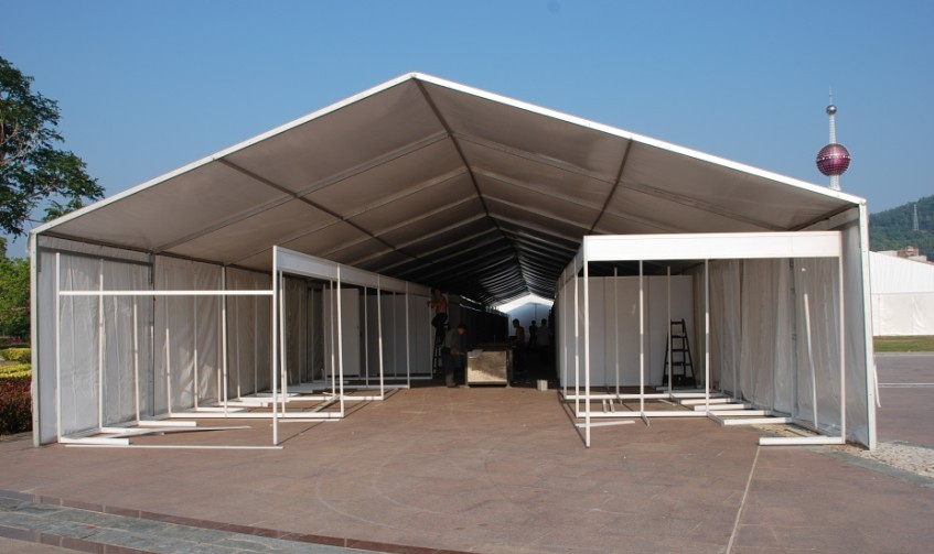 Modem aluminum PVC white tents of Safe Tent showed the magnificent and elegant appearance in this fair. & Safe Marquee Tent As 2012 Nanning International Clothes Fair ...